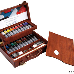 caja de madera de lujo 22 tubos 40ml
