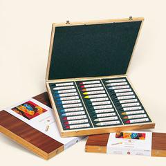 pasteles al óleo – cajas de madera